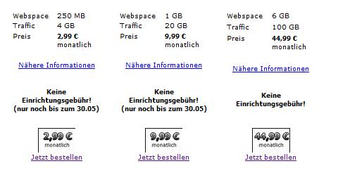 Contabo Webspace 2003