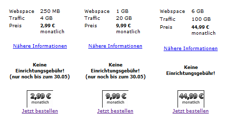 Webspace in 2003