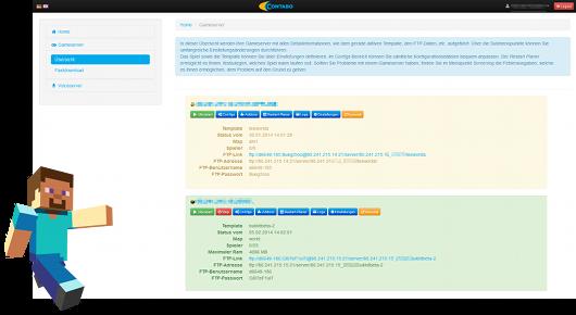 Gameserver Offizieller Blog Contabode - Minecraft server webinterface erstellen
