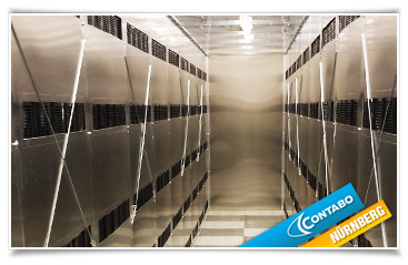 A fully separated cold aisle for server racks
