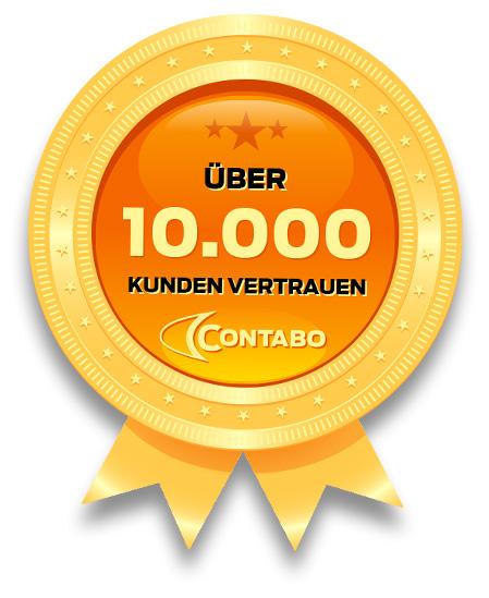 10.000 Kunden vertrauen auf Contabo