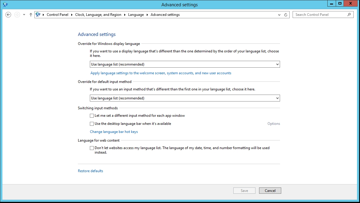 server 2012 r2 keyboard language