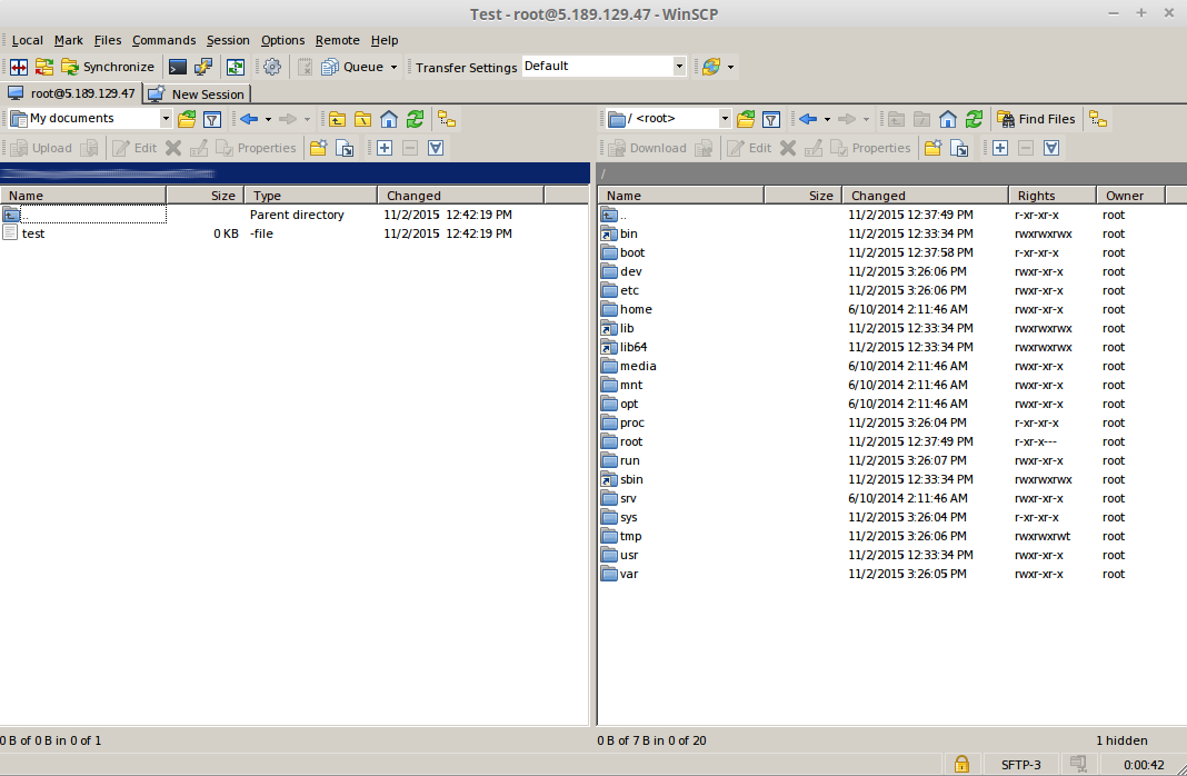 The easy way: Transfer data to your server with WinSCP