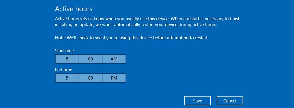 Manage Windows Updates in Windows 2016