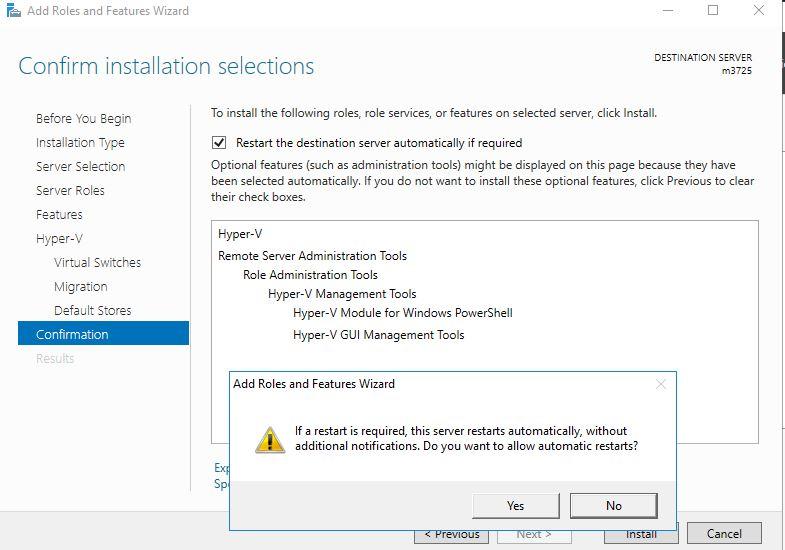 Installing Windows Hyper-V 2016 on a dedicated server