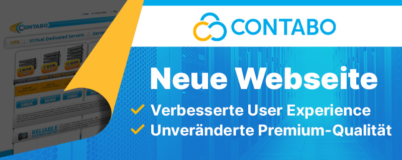 Contabo neue Website Feature