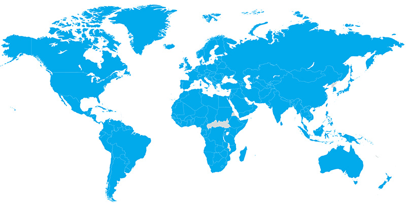 World Map of Contabo Customers