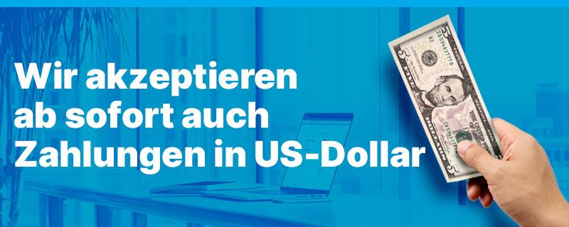 Contabo akzeptiert Zahlungen in USD und EUR
