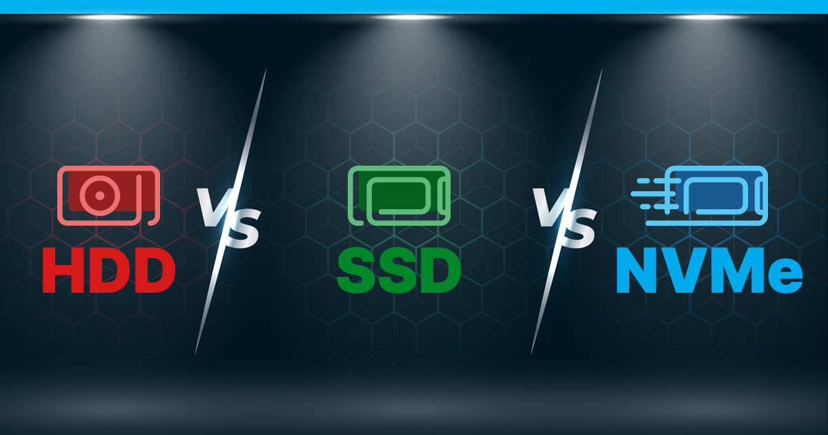HDD vs SSD vs NVMe feature pic